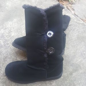 Shoes - SUEDE Fur boots with two buttons